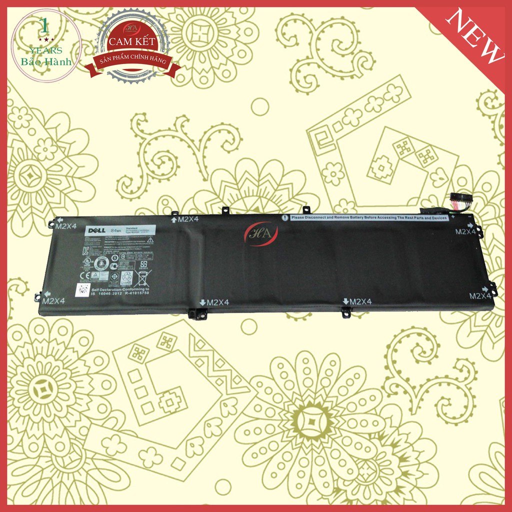 Pin laptop dell XPS 15 9550 84Wh