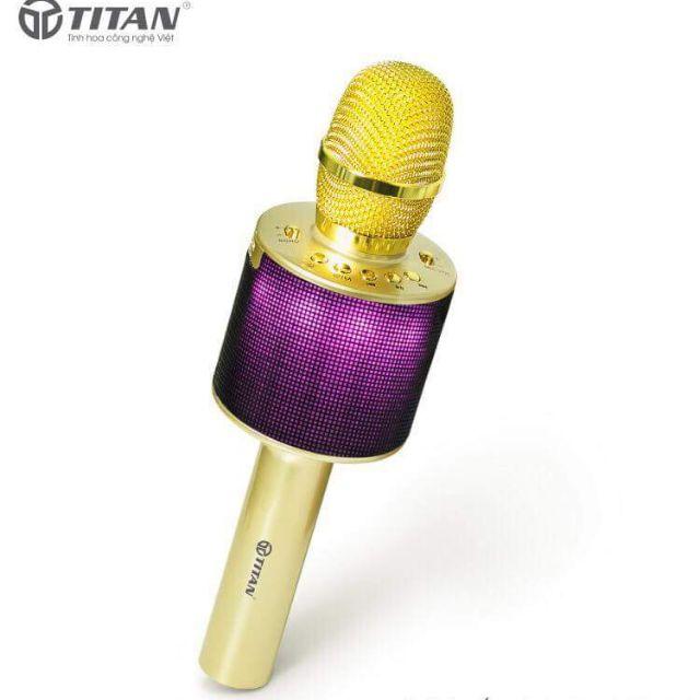 Mic hát đôi bluetooth titan M01, chất nhất thế giới