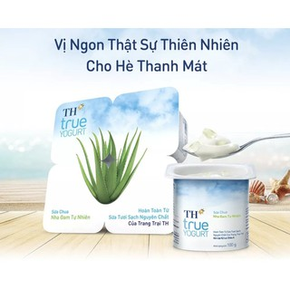 Sữa chua ăn Trái cây/Sầu riêng/Nha đam/Dừa/Chanh leo TH Truemilk 24hộp 5.0 – TH23