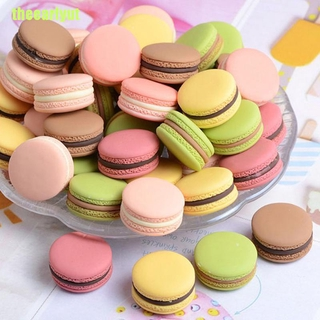 theearlyut 10pcs 1/12 Dollhouse French Macarons Miniatures Doll Food Model Toy Kids Toys