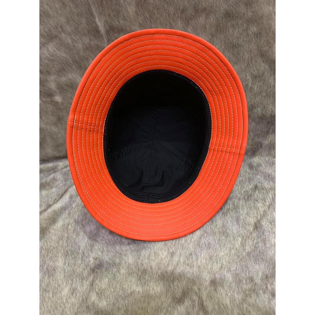 Mũ bucket da PU xịn hàng cao cấp màu cam