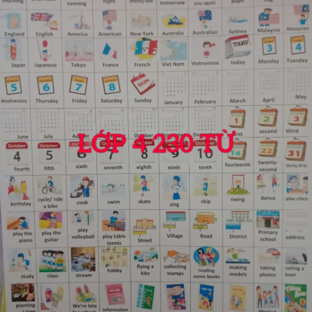Combo sticker lớp 4