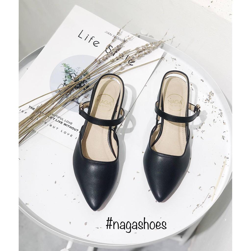 [Mã SKAMSALE10 giảm 10% đơn 200K] [FORM BÉ- CHỌN LÊN 1 SIZE] Giày cao gót thấp mũi nhọn 3CM Nagashoes NAC26