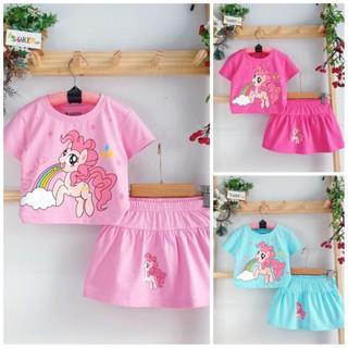 Sét Váy Bé Gái Đầm Pony bộ váy áo Pony cho bé gái Cao Cấp Mềm Mát size nhí đại 2-15