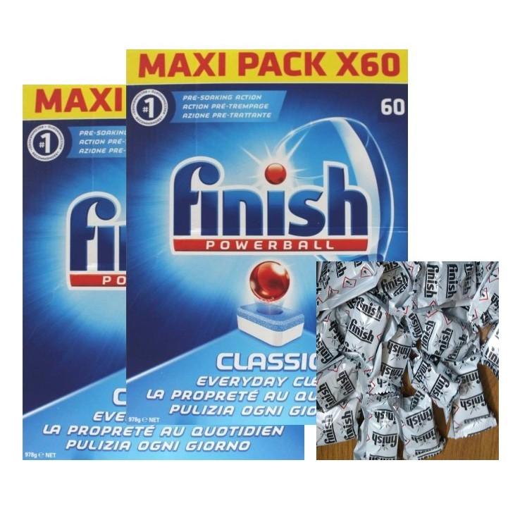 Tặng ngay 10 viên rửa tổng hợp khi mua combo 2 viên rửa finish 60 viên ( hàng chính hãng )