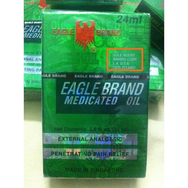 Dầu gió xanh Mỹ Eagle Brand Medicated Oil 24ml (lốc 12 chai) - 14316794 , 197586953 , 322_197586953 , 1400000 , Dau-gio-xanh-My-Eagle-Brand-Medicated-Oil-24ml-loc-12-chai-322_197586953 , shopee.vn , Dầu gió xanh Mỹ Eagle Brand Medicated Oil 24ml (lốc 12 chai)