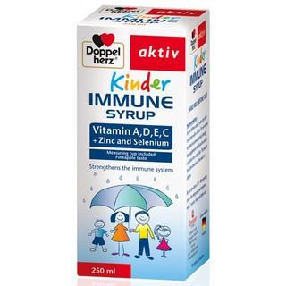 Tăng cường sức đề kháng cho trẻ Kinder Immune Syrup – Chính hãng Doppelherz Aktiv Đức