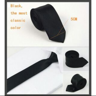 Cà vạt đen bản nhỏ Hàn Quốc