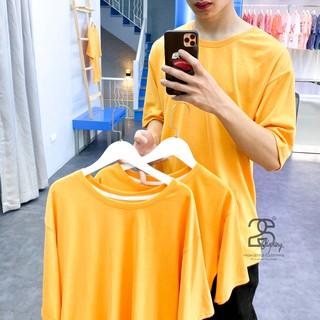 Áo thun basic tay lỡ cotton nam nữ unisex trơn 2S Clothing