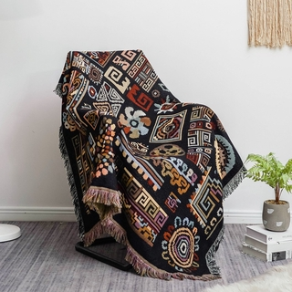 Chăn Trải Ghế Sofa Hai Mặt Phong Cách Bohemian