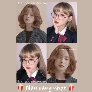 [KHÔNG TẨY] Thuốc nhuộm tóc màu Nâu vàng nhạt - xuất xứ Hàn Quốc