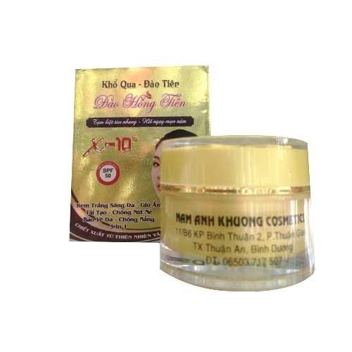 Kem trắng sáng giữ ẩm tái tạo chống nứt nẻ bảo vệ da chống nắng 8in1 X10 18g