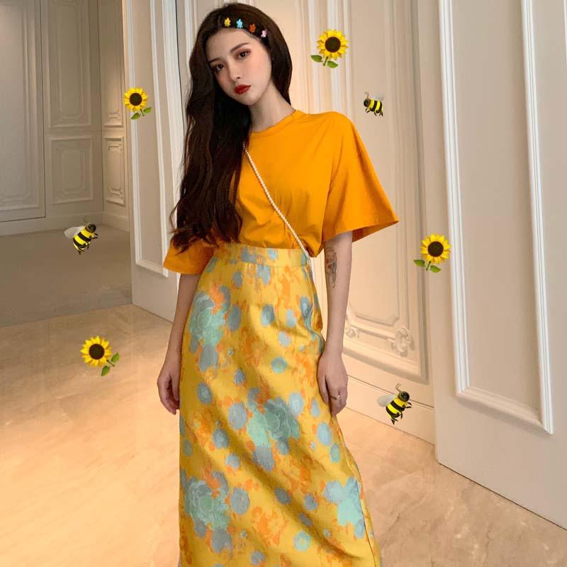 Set áo thun tay ngắn và chân váy dài họa tiết hoa màu vàng nổi bật thời trang dành cho nữ - 14198686 , 2289129084 , 322_2289129084 , 271000 , Set-ao-thun-tay-ngan-va-chan-vay-dai-hoa-tiet-hoa-mau-vang-noi-bat-thoi-trang-danh-cho-nu-322_2289129084 , shopee.vn , Set áo thun tay ngắn và chân váy dài họa tiết hoa màu vàng nổi bật thời trang dàn