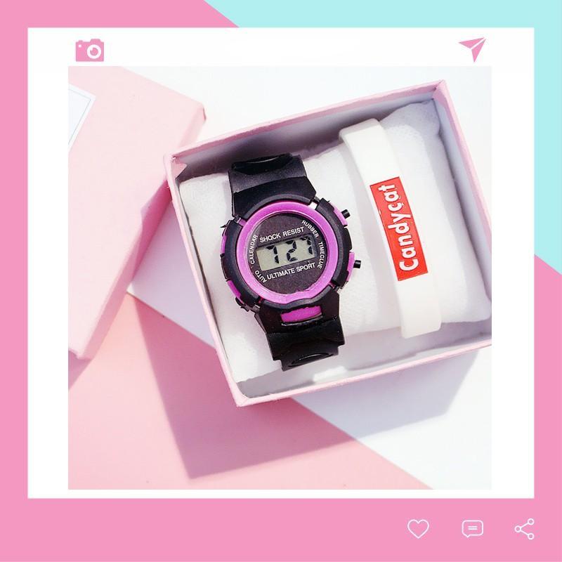 Đồng hồ thời trang trẻ em điện tử LCD Shock Resist DH74 giá rẻ tiện dụng