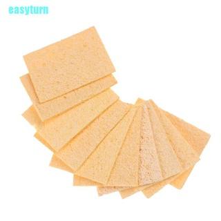 EAS 10pcs Soldering Iron Tip Welding Cleaning Cleaner Sponge 35*50mm