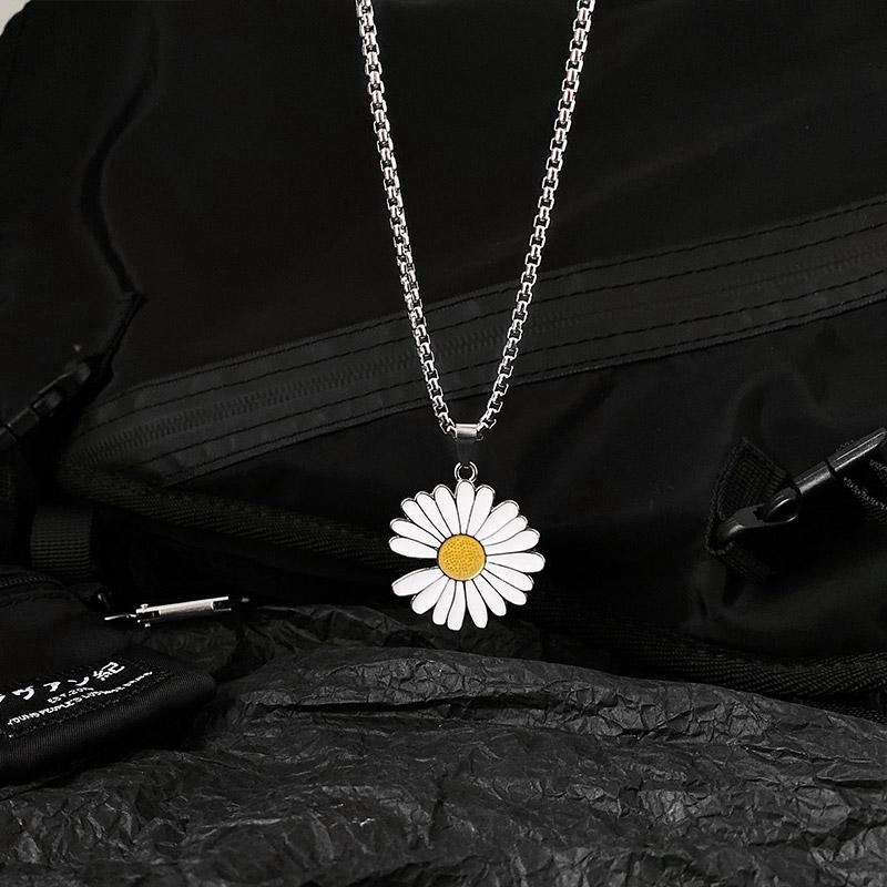 Dây chuyền hợp kim mặt hình hoa cúc nhỏ nhắn phong cách GD thời trang
