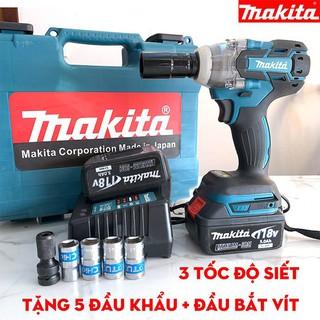 Máy siết bulong Maktia 118V 420NM – Không Chổi Than – Pin khủng 10 Cell – Kèm theo 2 Pin – Tặng 6 đầu khẩu