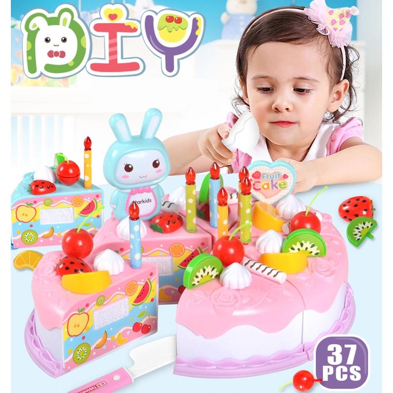 Bộ Đồ Chơi Cắt Bánh Sinh Nhật 37 Mảnh Cho Bé