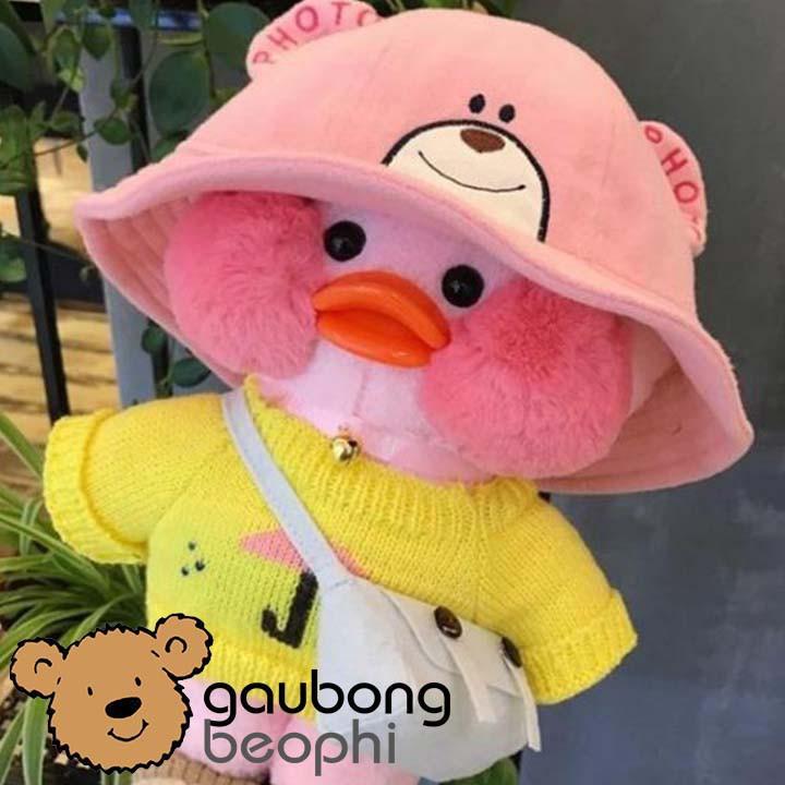 [Siêu Phẩm] Gấu Bông Vịt Lalafanfan Má Hồng Phúng Phính-Cao 30cm – Vải Nhung Siêu Mịn – Quà Tặng Valentine 14/2 Cho Nàng