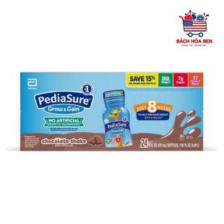 [xả hàng] Sữa PEDIASURE MỸ 237ml vị socola