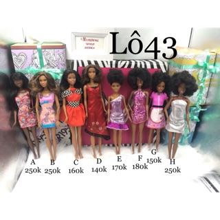 Búp bê Barbie chính hãng. Búp bê Barbie da đen. Búp bê Barbie fashionistas. Mã Lô43