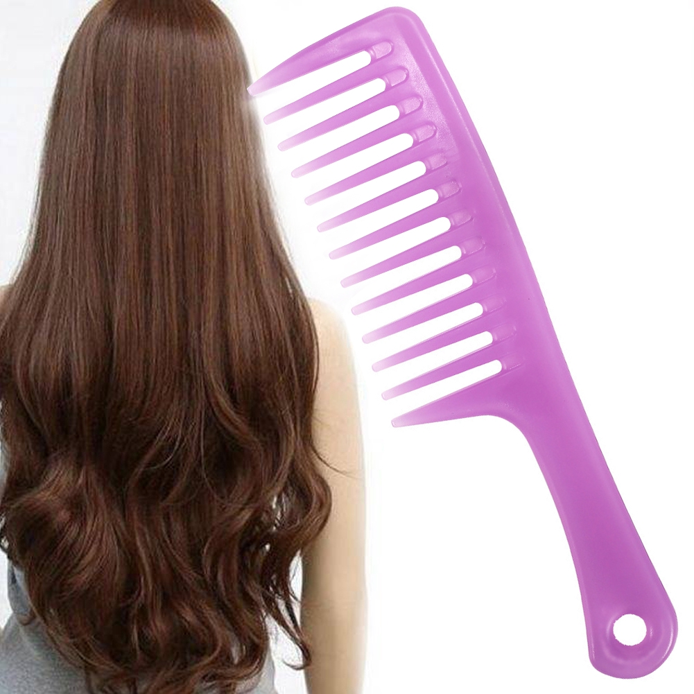 Portable Home Straight Salon Candy Color Anti Static Wide Tooth Comb