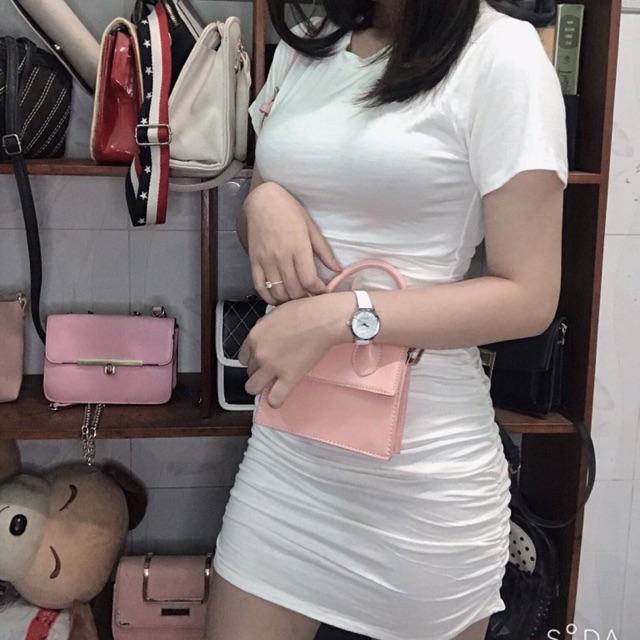Đầm body trắng nhúng