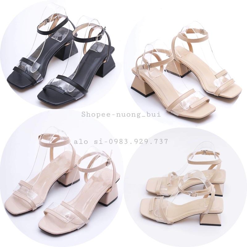 Sandal giày cao gót đế vuông dáng hàn quốc cao 5cm - mã 751