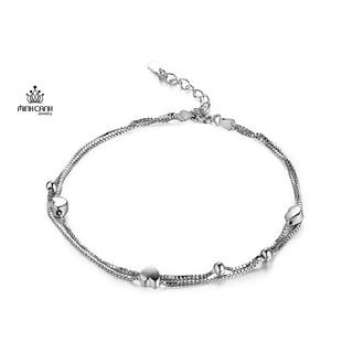 [Mã MCJ20 giảm 20K đơn từ 199K] Lắc Chân Bạc Họa Tiết Trái Tim Dây Đôi - Minh Canh Jewelry thumbnail