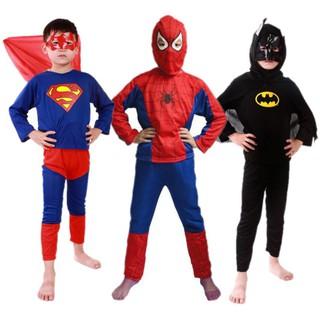 trang phục hóa trang người nhện cho bé
