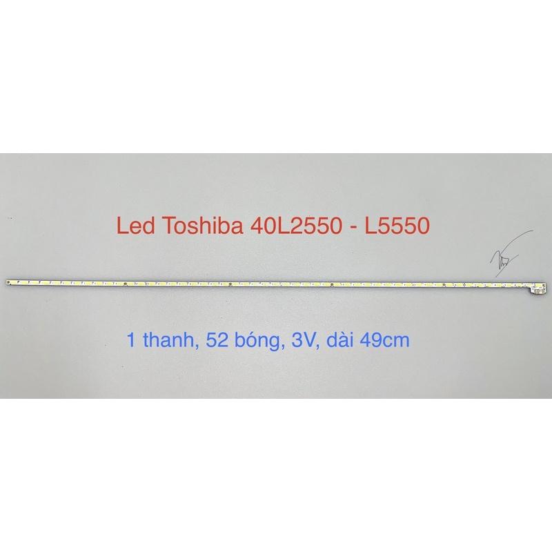 [Mới] Led Viền Tivi Toshiba 40 L2550 - L5550 Sẵn Keo (1 Thanh)