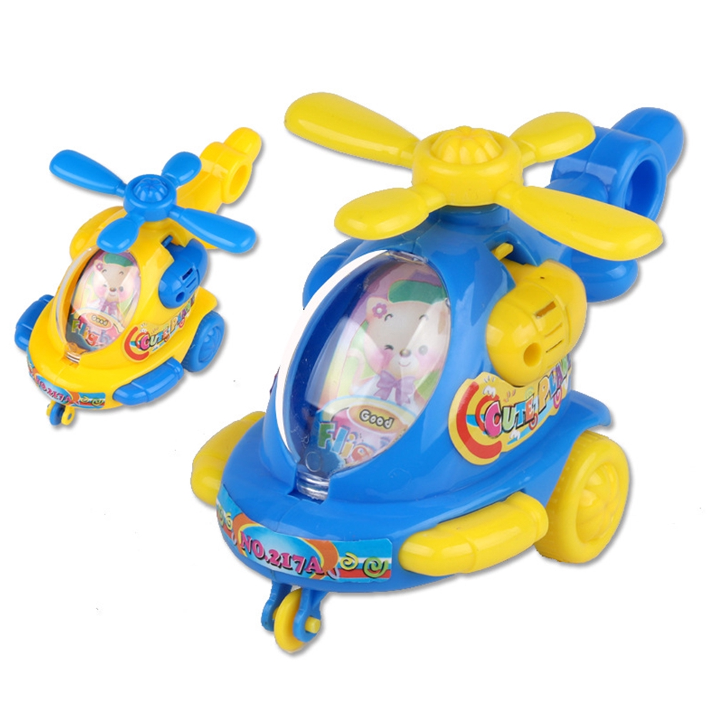 Pull Rope Children Flying Cartoon Classic DIY Clockwork Wind Up Toy Helicopter