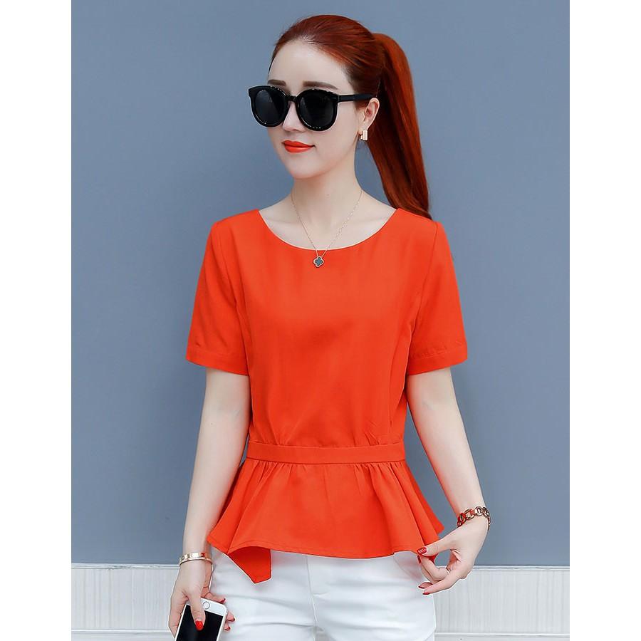 Áo kiểu nữ SM1118 phong cách Hán Quốc sang trọng quyến rũ với ba màu tươi sáng bắt mắt tôn da tôn dáng xanh, đỏ , trắng