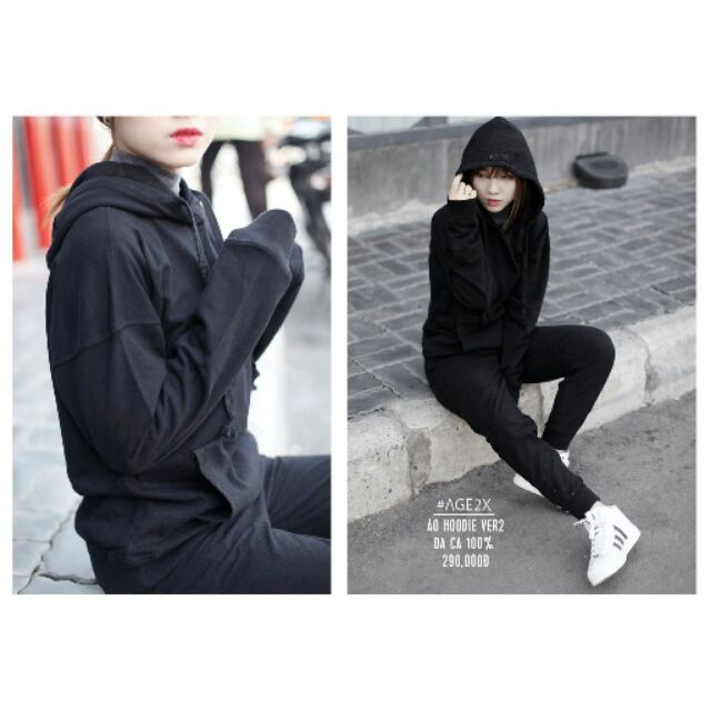 Áo hoodie ver3 AGE2X chỉ #250k