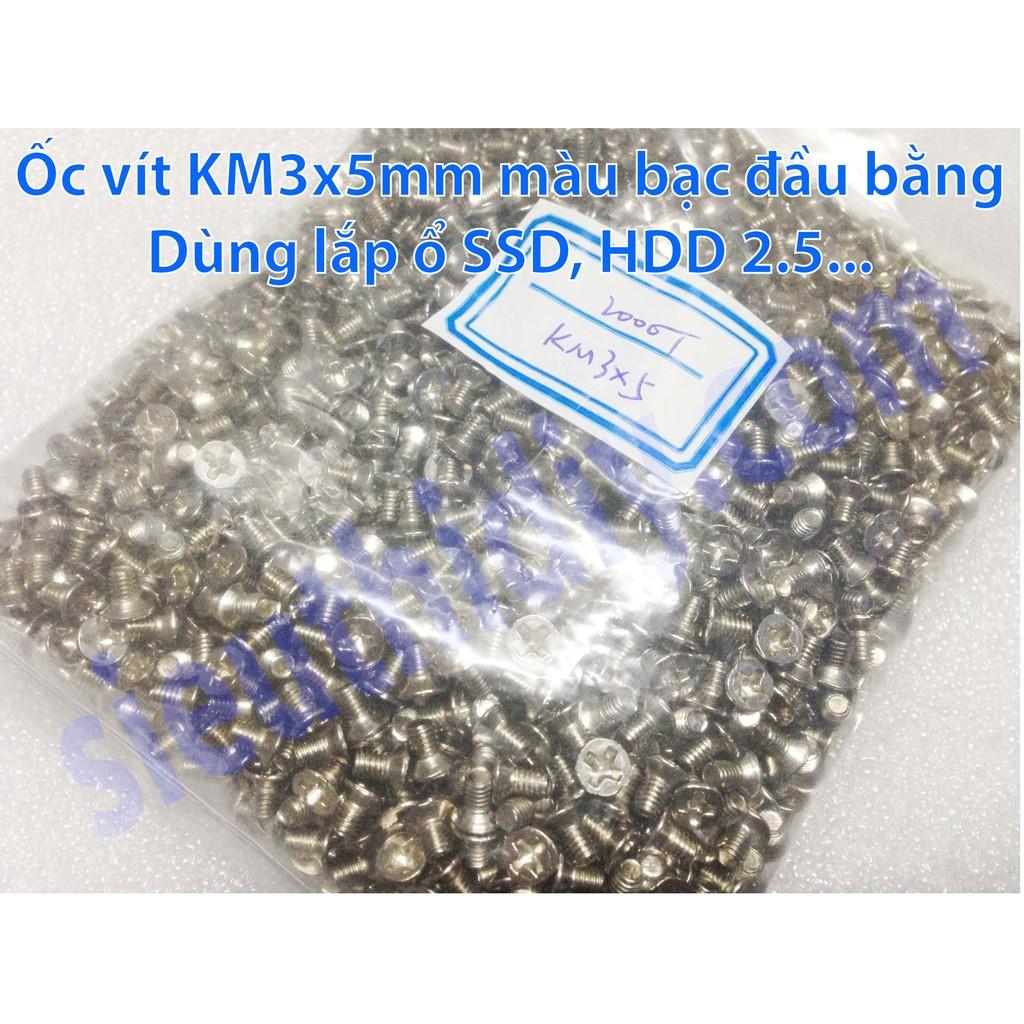 Ốc vít KM3x5mm đầu bằng lắp ổ SSD, HDD 2.5 - 3140869 , 315617470 , 322_315617470 , 36000 , Oc-vit-KM3x5mm-dau-bang-lap-o-SSD-HDD-2.5-322_315617470 , shopee.vn , Ốc vít KM3x5mm đầu bằng lắp ổ SSD, HDD 2.5