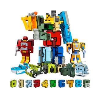 Bộ Chữ và Số biến hình Robot