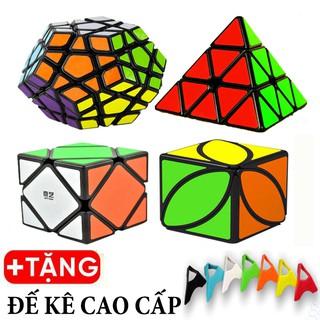 Rubik Megaminx, Pyraminx, Skewb, Ivy - Combo 4 Rubik Biến Thể Viền Đen Cao Cấp thumbnail