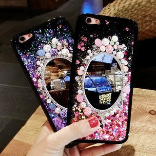 NToppo R9 mobile phone shell mirror R9S quicksand drop ring R9plus phone case