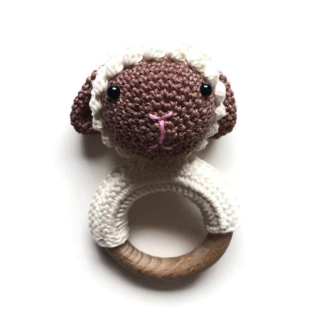 Set len lục lạc cầm tay con cừu