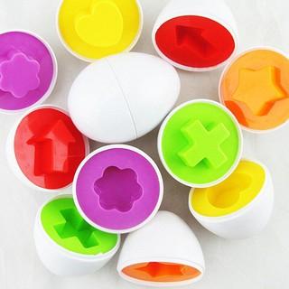 Combo 6 trứng đồ chơi giúp bé học hình ảnh và màu