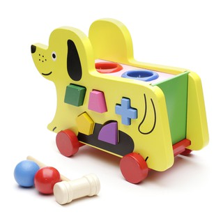 Đồ chơi xe chó thả hình đập bóng cho bé