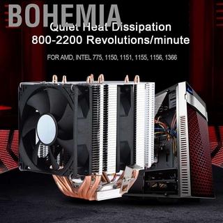 Bohemia 6 Heatpipes Dual-Tower Cooler for AMD Intel CPU Radiator 90mm 4pin Cooling Fan