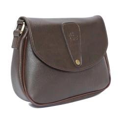 Túi đeo chéo LATA HN15 (Da nâu ),Bảo hành trọn đời