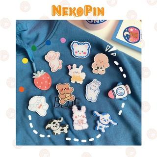 Ghim cài NEKOPIN trang trí áo, balo, túi xách hình hoạt hình dễ thương P001 thumbnail
