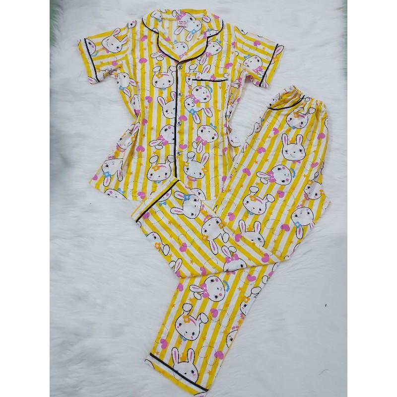 ?Size Nhỏ (50-62kg)Tole Pijama tay ngắn quần dài