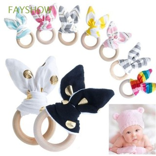 Develop Gift Bunny Hand Grasp Rattles Sensory Toy Intelligence Baby Teething Ring