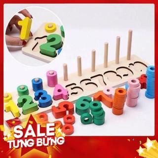 [SALE] Bộ đồ chơi ghép số, bộ đếm đa màu sắc giúp bé phát triển thông minh