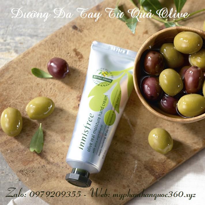 Kem Dưỡng Da Tay Từ Olive – Innisfree Olive Real Moisture Hand Cream