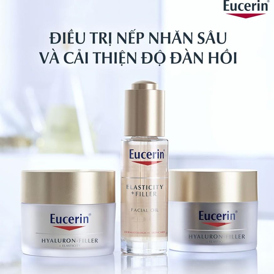 [Mã FMCGM100 - 10% đơn 500K] Dầu dưỡng da ngăn ngừa lão hóa Eucerin Hyaluron Filler Elasticity Oil 30ml