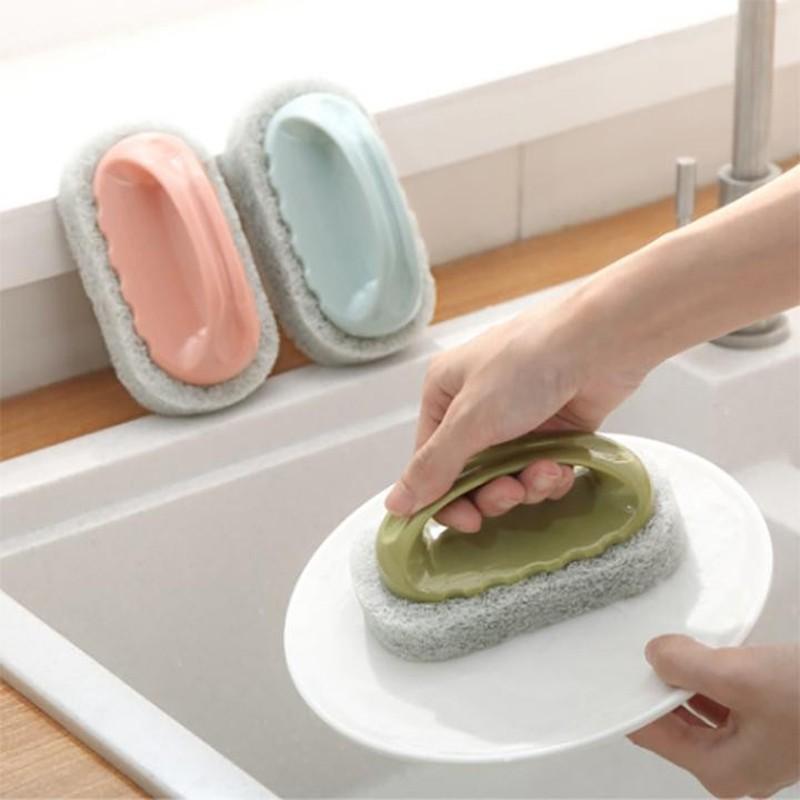 Bàn chải bọt biển cọ rửa cầm tay tiện dụng